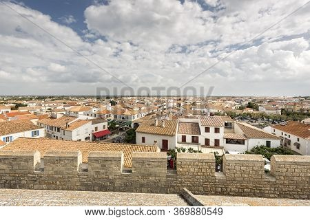 The Small Town Of Saintes-maries-de-la-mer In Southern France
