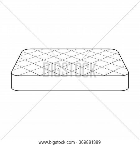 Orthopedic Mattress Vector Icon.line Vector Icon Isolated On White Background Orthopedic Mattress.