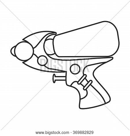 Water Gun Vector Icon.line Vector Icon Isolated On White Background Water Gun.