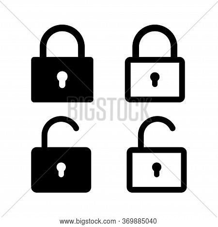 Lock Vector Icon. Security Symbol. Lock Web Button Design. Security System. Vector Isolated Lock Ico