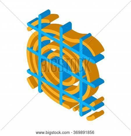 Topography Research Tool Icon Vector. Isometric Topographic Engineering Research Equipment, Modern T