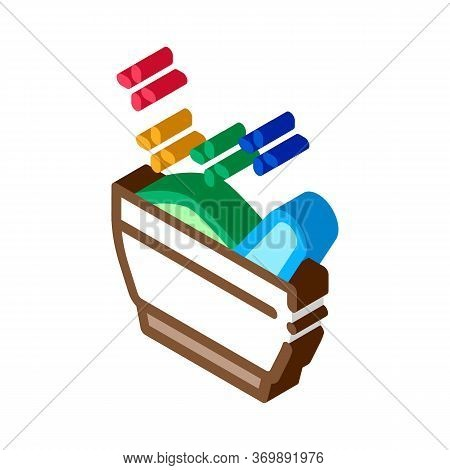 Thailand Traditional Meal Icon Vector. Isometric Bowl With National Meal, Soup Dish, Street Food Sig