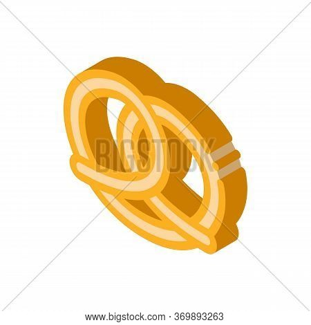Pie Roll Creamy Tasty Food Icon Vector. Isometric Sweet Pie Roll With Candy On Top Delicious Nutriti