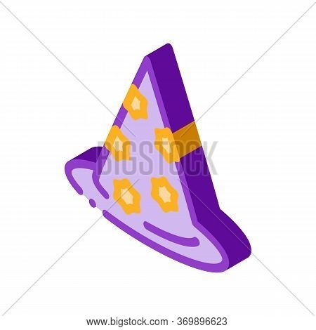 Magician Hat Icon Vector. Isometric Magician Hat Sign. Color Isolated Symbol Illustration