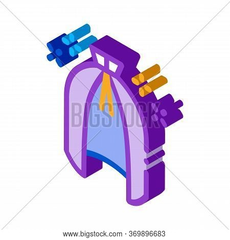 Magic Cloak Cape Icon Vector. Isometric Magic Cloak Cape Sign. Color Isolated Symbol Illustration