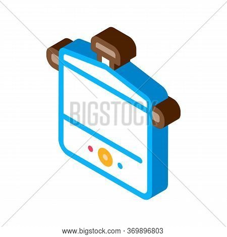 Tool Sterilizer Icon Vector. Isometric Tool Sterilizer Sign. Color Isolated Symbol Illustration