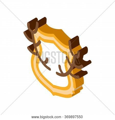 Deer Horns Icon Vector. Isometric Deer Horns Sign. Color Isolated Symbol Illustration