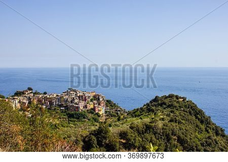 View Of Corniglia From The Hiking Trail To Vernazza, Cinque Terre, Italy