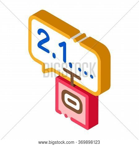 Countdown To Bang Icon Vector. Isometric Countdown To Bang Sign. Color Isolated Symbol Illustration