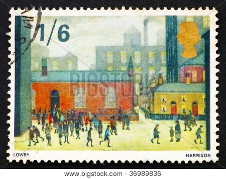 Postage Stamp Gb 1967 Children Coming Out Of The School