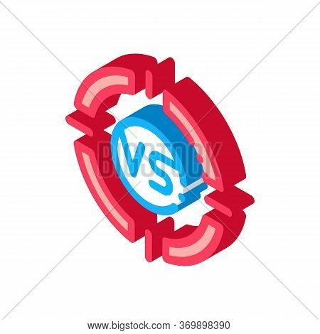Vs Target Icon Vector. Isometric Vs Target Sign. Color Isolated Symbol Illustration