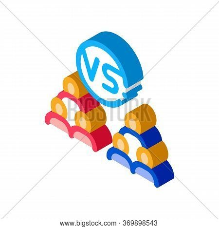 Command Battle Icon Vector. Isometric Command Battle Sign. Color Isolated Symbol Illustration