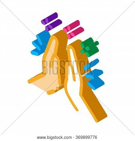 Hand Clapping Icon Vector. Isometric Hand Clapping Sign. Color Isolated Symbol Illustration