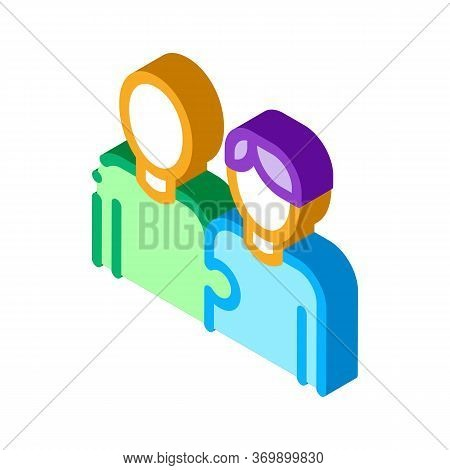 Human One Whole Icon Vector. Isometric Human One Whole Sign. Color Isolated Symbol Illustration