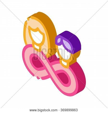 Love Forever Icon Vector. Isometric Love Forever Sign. Color Isolated Symbol Illustration
