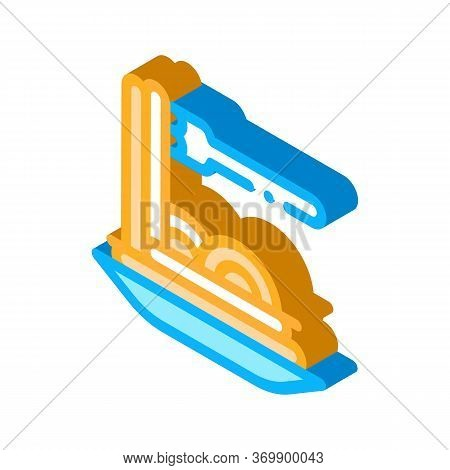 Pasta Italy Dish Icon Vector. Isometric Pasta Italy Dish Sign. Color Isolated Symbol Illustration