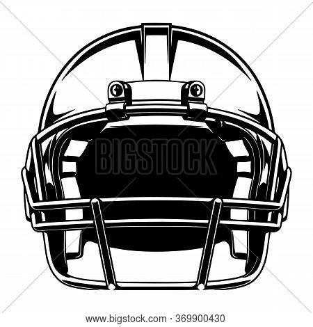 Helmet For Playing Football Vector Image, Vector Illustration Design