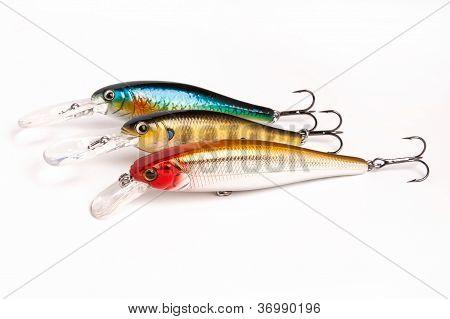 Bait For Fishing - Wobbler On White