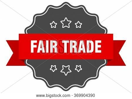 Fair Trade Red Label. Fair Trade Isolated Seal. Fair Trade