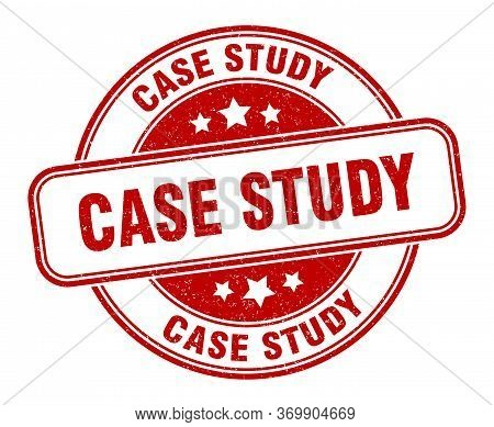 Case Study Stamp. Case Study Round Grunge Sign. Label