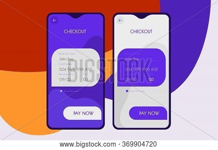 Mobile App Ui Payment And Checkout Screens Mockup Kit