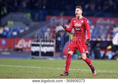 Napoli. Italy. 26th January 2020. Italian Serie A. Ssc Napoli Vs Juventus Fc. Alex Meret Of Ssc Napo