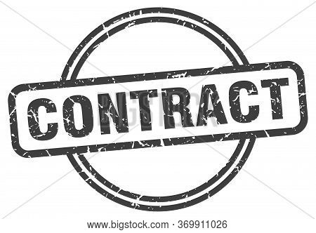 Contract Stamp. Contract Round Vintage Grunge Sign. Contract