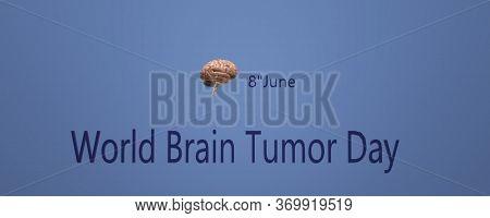 Brain Cancer Awareness Banner. Modern 3d Image For June Awareness Companies. World Brain Tumor Day.