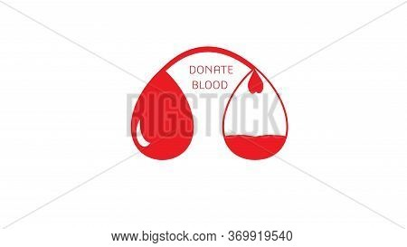 Red Blood Drop. Drop Blood. World Blood Donor Day. Logo For Blood Donation Awareness Organizations.