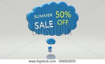 Summer Sale Up To 50% Off, Promo Banners 3d Image