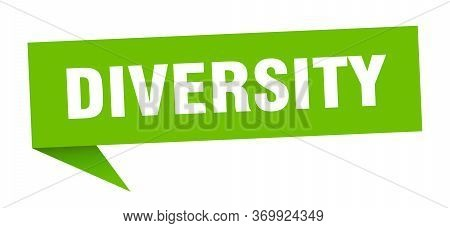 Diversity Speech Bubble. Diversity Ribbon Sign. Diversity Banner