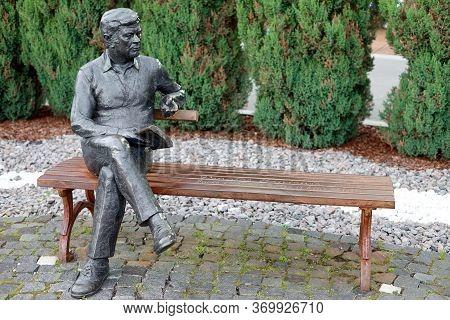 Druskininkai, Lithuania - August 6, 2017: Sculpture Of Donatas Banionis. Druskininkai, Lithuania. Do