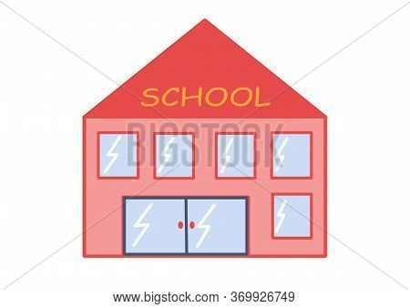 School Doodle. School Building. Illustrations For Children's Books, Stickers. Day Of Knowledge. Teac