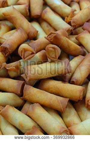 Golden Fried Cheese Rolls, Arabic Snack Food