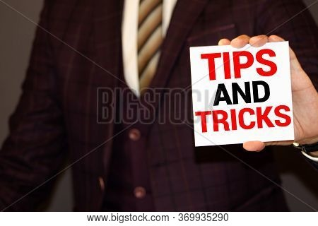 Tips And Tricks Card With Sky Background