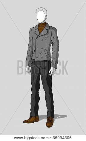 Man in sailor jacket and pants