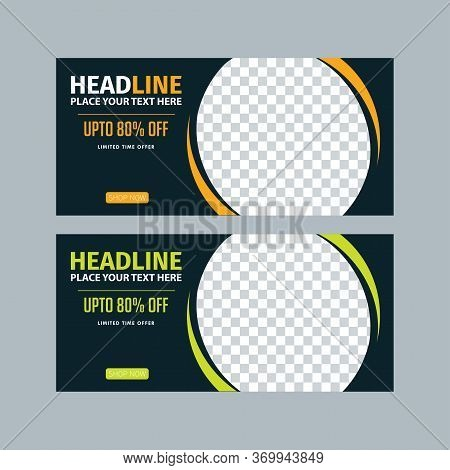 Editable Banner Template. Social Media Post Template. Sale Promotion, Ads, Gift Card, Web Banner For