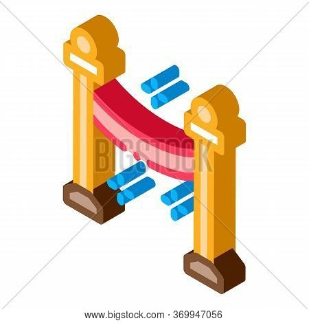 Passage Closed Icon Vector. Isometric Passage Closed Sign. Color Isolated Symbol Illustration