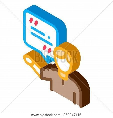 Actor Man With Replica Icon Vector. Isometric Actor Man With Replica Sign. Color Isolated Symbol Ill