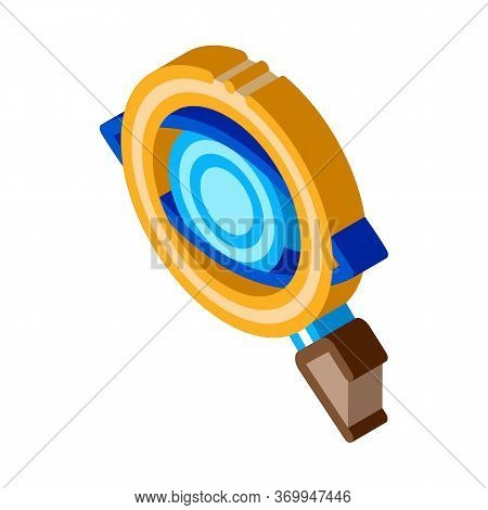 Eyeball Diagnostics Icon Vector. Isometric Eyeball Diagnostics Sign. Color Isolated Symbol Illustrat