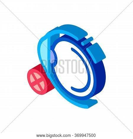 Eyeball Glaucoma Icon Vector. Isometric Eyeball Glaucoma Sign. Color Isolated Symbol Illustration