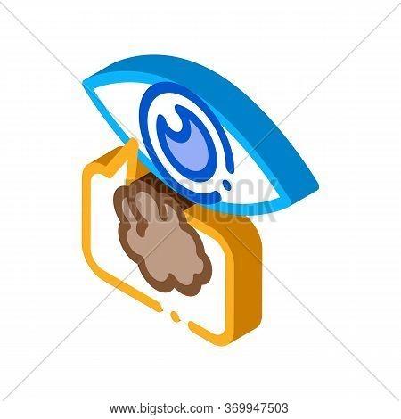 Poor Eyesight Icon Vector. Isometric Poor Eyesight Sign. Color Isolated Symbol Illustration
