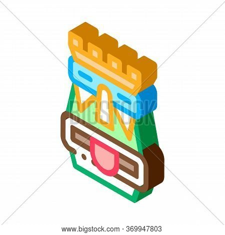 Aztec Totem Icon Vector. Isometric Aztec Totem Sign. Color Isolated Symbol Illustration