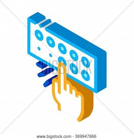 Musical Console Icon Vector. Isometric Musical Console Sign. Color Isolated Symbol Illustration