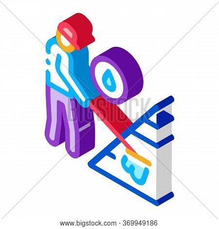 Technical Renewal Of Battery Icon Vector. Isometric Technical Renewal Of Battery Sign. Color Isolate