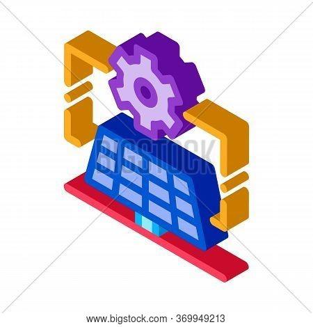 General Solar Setup Icon Vector. Isometric General Solar Setup Sign. Color Isolated Symbol Illustrat
