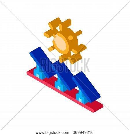Several Solar Panels Icon Vector. Isometric Several Solar Panels Sign. Color Isolated Symbol Illustr