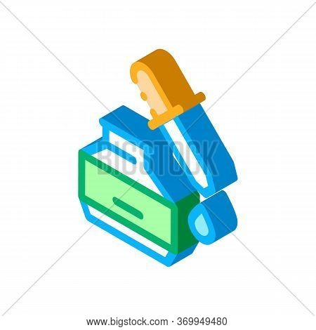 Youth Serum Icon Vector. Isometric Youth Serum Sign. Color Isolated Symbol Illustration