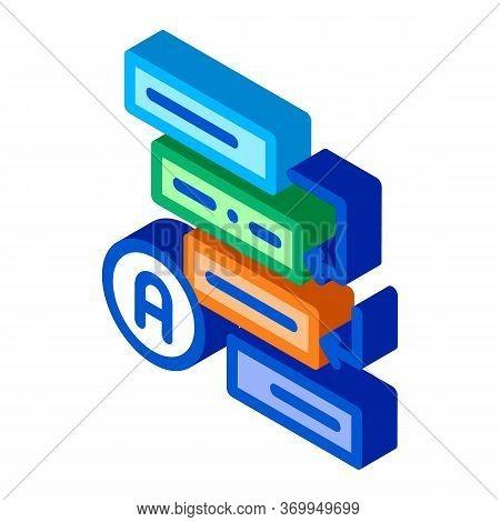 Graphical Automatic Algorithm Icon Vector. Isometric Graphical Automatic Algorithm Sign. Color Isola