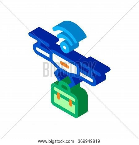 Wifi Powered Drone Icon Vector. Isometric Wifi Powered Drone Sign. Color Isolated Symbol Illustratio